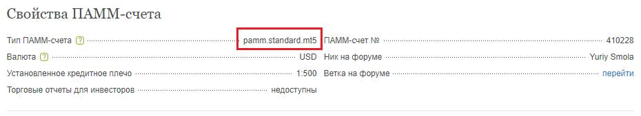 Типы торговых счетов fintechnology standart